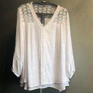 NWOT Boho flowing white shirt